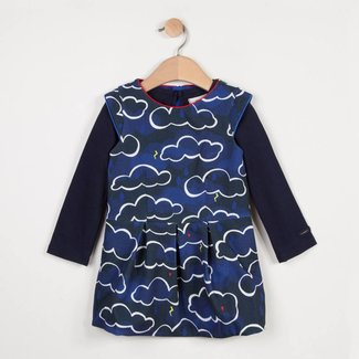 2 IN 1 RAIN CLOUD DRESS WITH LONG-SLEEVE TSHIRT