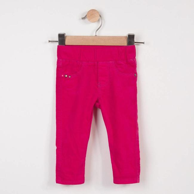 PEONY PINK STRETCH VELVET TREGGINGS