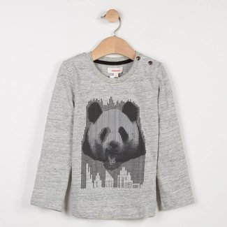 MARL T-SHIRT WITH  PANDA HOLOGRAM-STYLE MOTIF