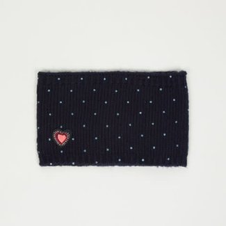 MOHAIR KNIT SNOOD WITH SHINY SPOTS
