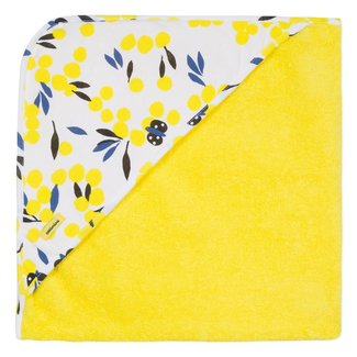 YELLOW HOODED BATH TOWEL