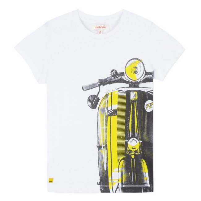 WHITE T-SHIRT WITH RETRO DESIGN