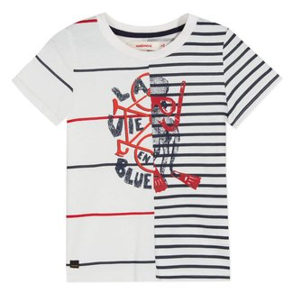 2 IN 1 MARINE IMAGE T-SHIRT WHITE