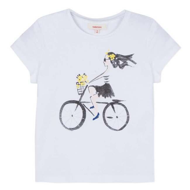 T-SHIRT WITH BICYCLE PRINT