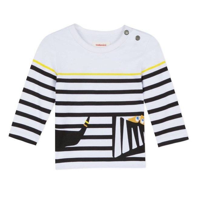 STRIPED T-SHIRT WITH FUN PATTERN