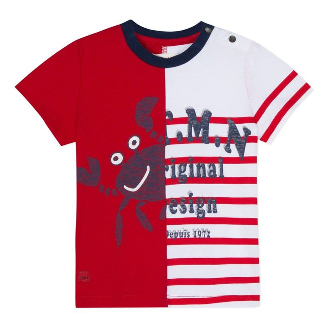 2 IN 1 MARINE IMAGE T-SHIRT RED