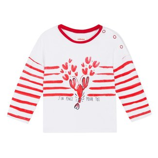 T-SHIRT WITH STRIPES AND CRUSTACEAN MOTIF