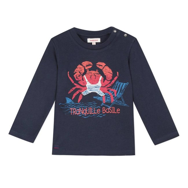 CATIMINI T-SHIRT WITH A PLAYFUL RED CRAB MOTIF