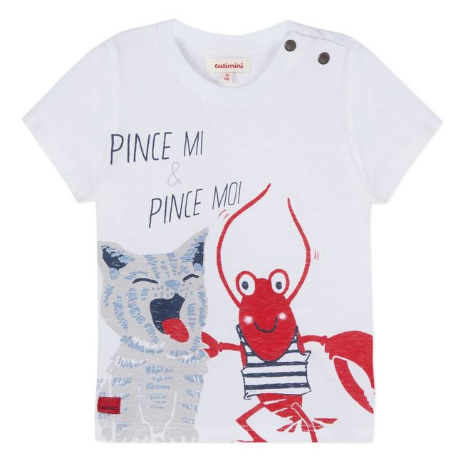 REVERSIBLE T-SHIRT WITH LOBSTER MOTIF