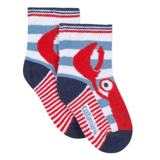 STRIPED SOCKS WITH JACQUARD LOBSTER