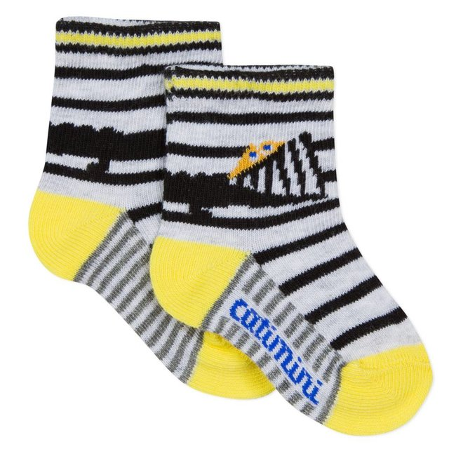 STRIPED JACQUARD SOCKS WITH CROCODILE DESIGN
