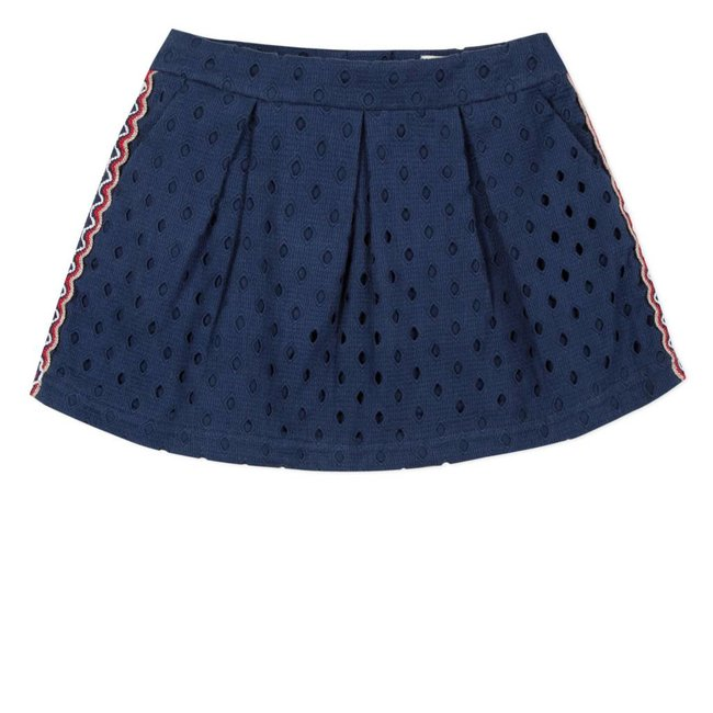 CATIMINI SKIRT  IN BRODERIE ANGLAIS AND BRAID