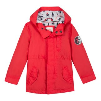 RUBBERISED PARKA WITH COATED RED HOOD
