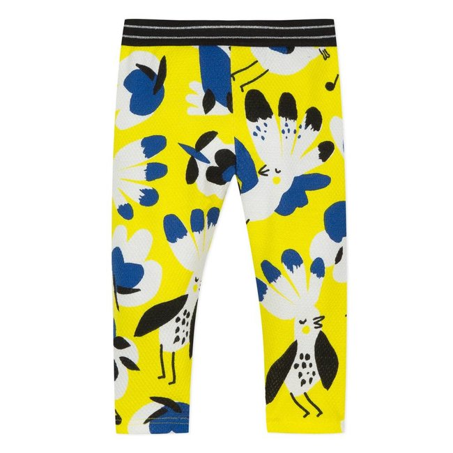 PIQUÉ LEGGINGS WITH PARROT PRINT