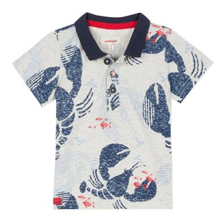 LOBSTER PRINTED JERSEY POLO SHIRT