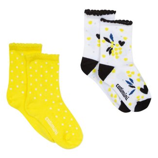 JACQUARD SOCKS WITH MIMOSA DESIGN(2P)