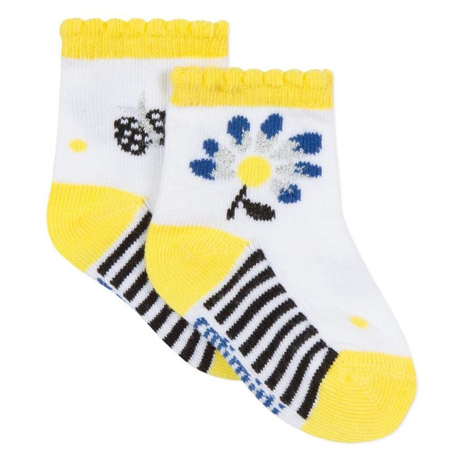 JACQUARD SOCKS WITH MIMOSA DESIGN