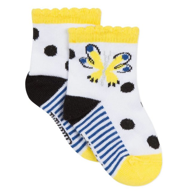 JACQUARD SOCKS WITH BUTTERFLY DESIGN
