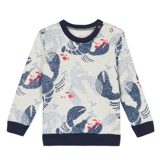 FLEECE SWEATSHIRT WITH LOBSTER PRINT