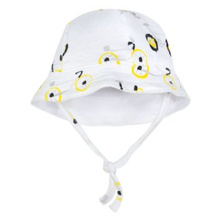 BICYCLE PRINT TUBULAR KNIT SUN HAT
