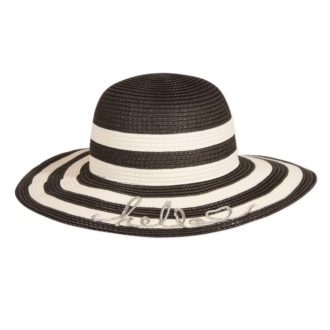 2-TONE WIDE-BRIMMED STRAW HAT