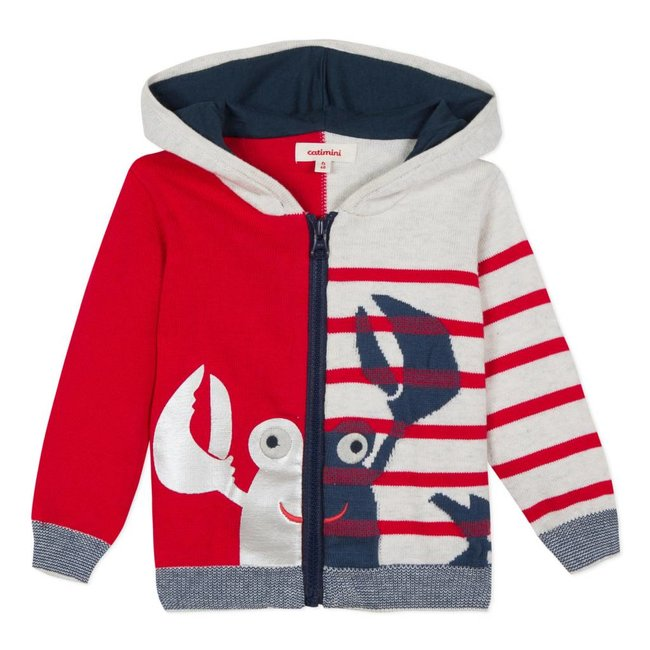 2 IN 1 ZIPPED JACKET WITH MARINE IMAGES