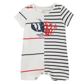 2 IN 1 JERSEY PLAYSUIT WITH MARINE IMAGES