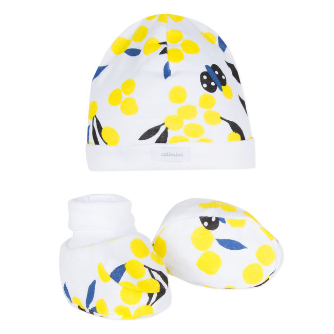 MIMOSA PRINT HAT + BOOTEES