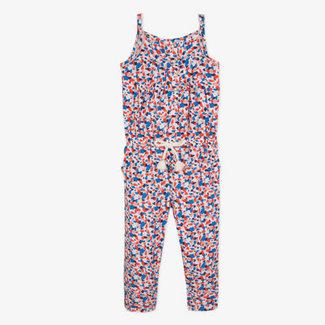 VISCOSE JUMPSUIT WITH GRAPHIC PRINTS