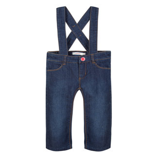 WIDE CROPPED JEANS WITH BRACES