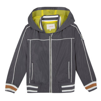 ZIPPED HOODED WATER-RESISTANT JACKET