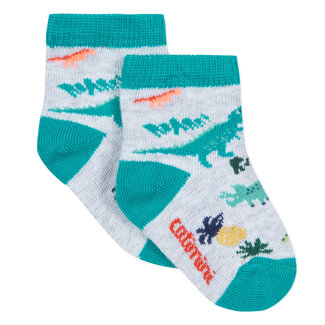SOCKS IN JACQUARD PRINTED WITH DINOSAURS