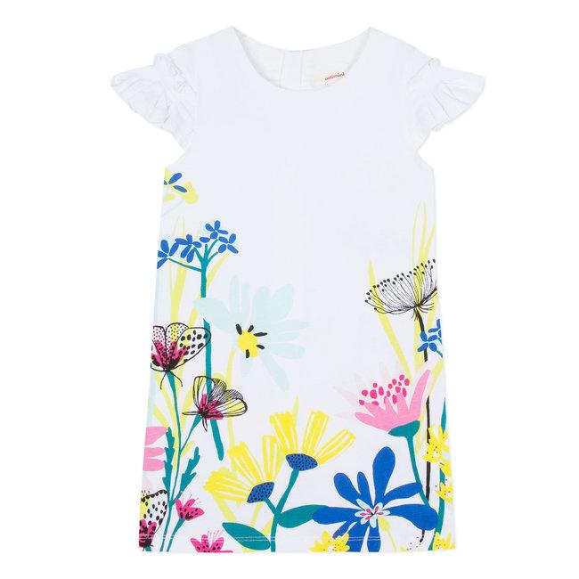 CATIMINI JERSEY DRESS WITH PLANT PRINT