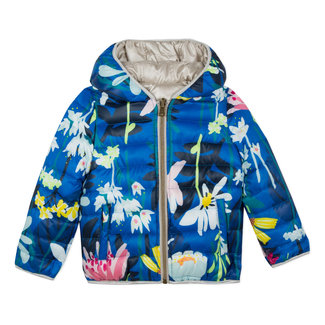 LIGHT REVERSIBLE JACKET WITH A PLANT PRINT