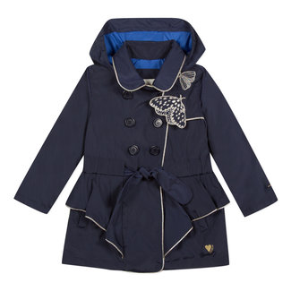 LIGHTLY COATED PARKA WITH RUFFLES