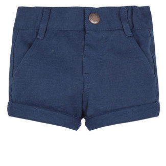 NAVY BLUE PIQUÉ BERMUDA SHORTS
