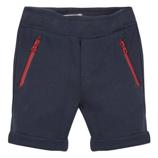 REGULAR FIT DARK BLUE PIQUÉ BERMUDA SHORTS
