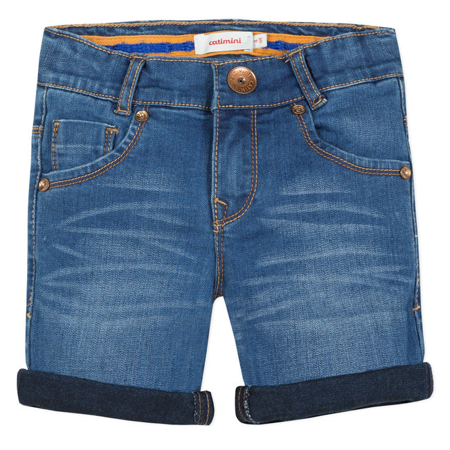 CATIMINI REGULAR FIT STRETCH STONEWASH DENIM BERMUDA SHORTS