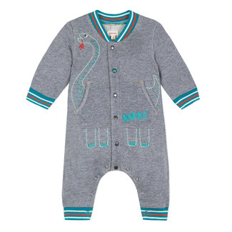 ROMPER SUIT IN DENIM FLEECE