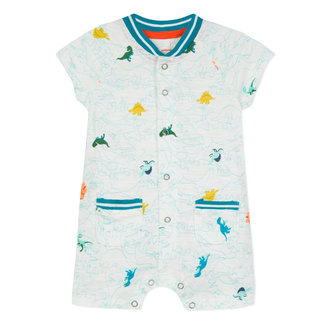 SHORT ROMPER WITH DINOSAUR PRINT