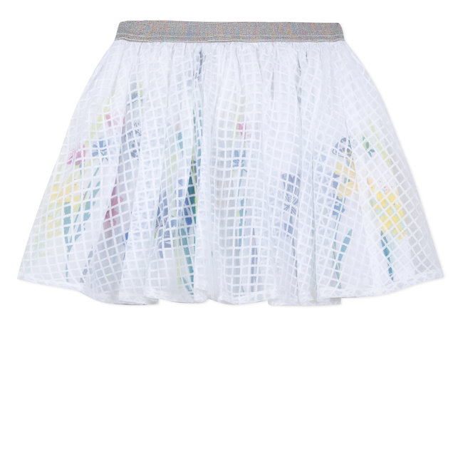 SKATER SKIRT IN CHECKED DEVORE SQUARES