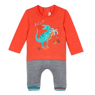 DINOSAUR TEE-SHIRT AND TWO-TONE FLEECE TROUSERS