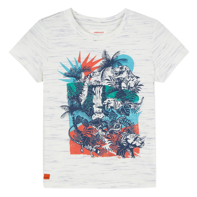 CATIMINI T-SHIRT WITH JUNGLE PATTERN