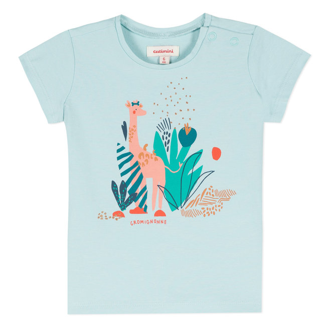 T-SHIRT WITH COLOURED PRIMITIVE DESIGN