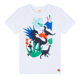 T-SHIRT WITH A COLOURFUL JUNGLE PRINT