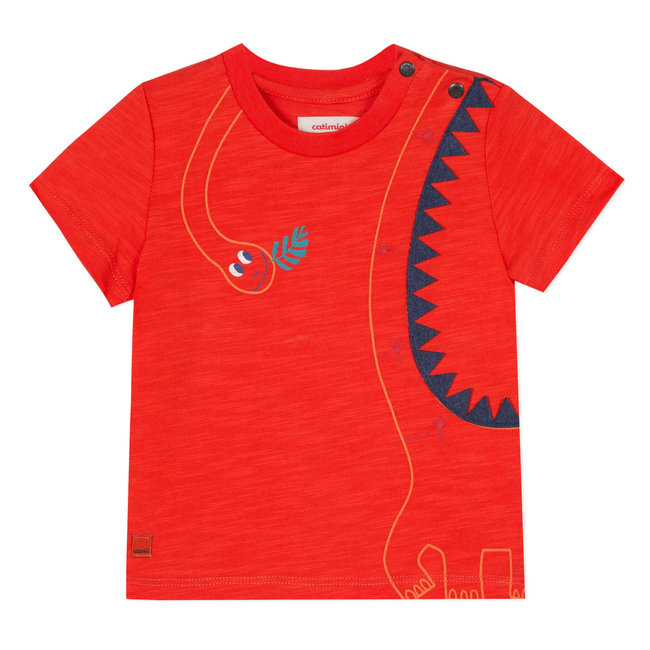 T-SHIRT WITH 3D DINOSAUR PRINT