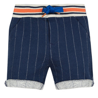 STRIPED FLEECE BERMUDA SHORTS