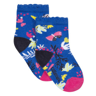 CATIMINI ROYAL BLUE FLORAL JACQUARD SOCKS