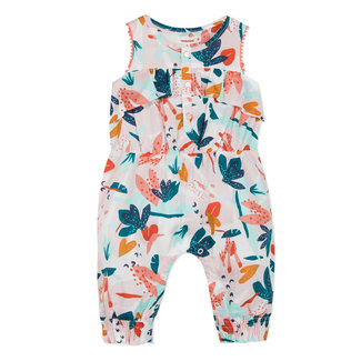 ROMPER SUIT IN FLOWER-PRINTED VOILE