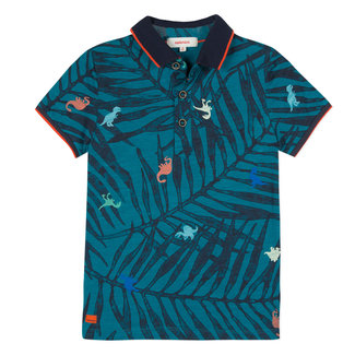 POLO SHIRT WITH JUNGLE PRINT